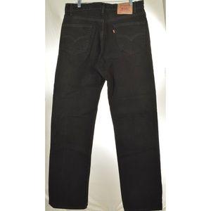 Levi's Jeans - Levi 505 36 x 34 black regular fit straight leg bl